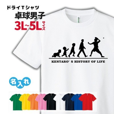 卓球 Tシャツ ドライ  3L 4L 5L 名入れ  メンズ 男  チーム (HOL 男子 B)