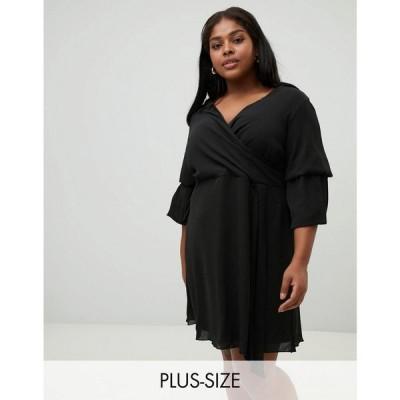 ココ Koko レディース ワンピース ワンピース・ドレス layered sleeve dress Black