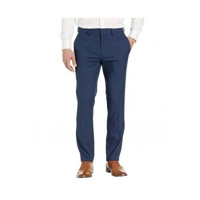 Kenneth Cole Reaction ケネスコール メンズ 男性用 ファッション パンツ ズボン Stretch Shadow Check Slim Fit Dress Pants - Blue