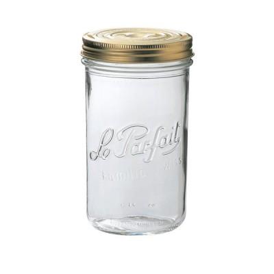 ル・パルフェダブルキャップキーパー1L | ふた付 ガラス瓶 保存瓶 はちみつ容器 ジャー容器 かわいい 可愛い おしゃれ オシャレ ガラス 貯蔵瓶 果実酒びん