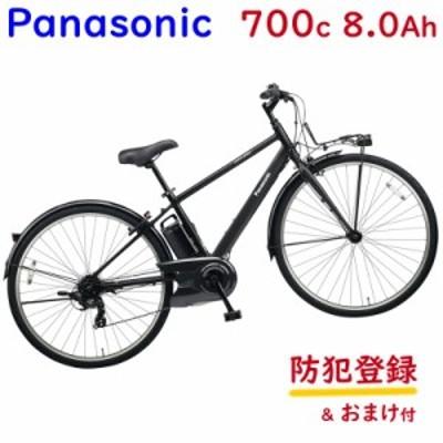 パナソニック ベロスター BE-ELVS772B ミッドナイトブラック 700C  クロスバイク 電動アシスト自転車(大)ぱ