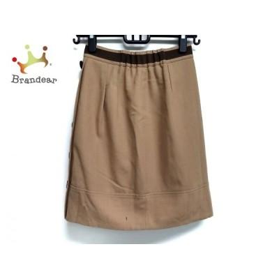 ジャスグリッティー スカート サイズ1 S レディース ブラウン×ダークブラウン リバーシブル     スペシャル特価 20200425