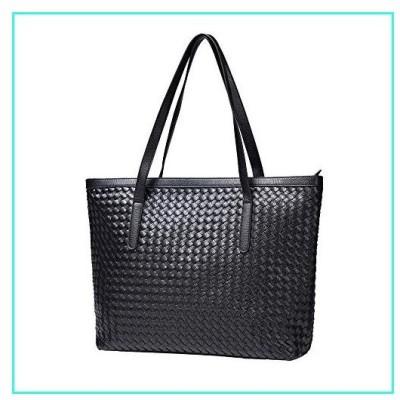 【新品】BINUSI Tote Handbags for Women with Zipper Leather Fashion Purses Shoulder Casual Crossbody Designer Hobo Latop Bag(並行輸入品)