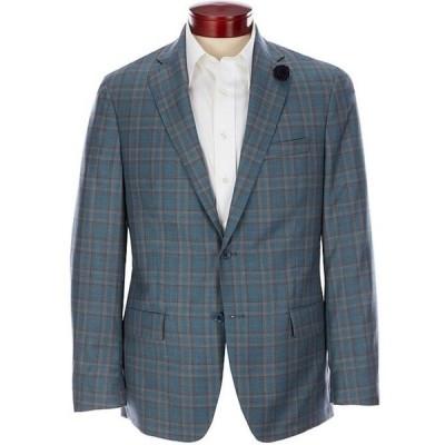 ハート シャフナー マルクス メンズ ジャケット・ブルゾン アウター Modern-Fit Teal Plaid Wool Sportcoat