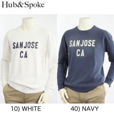 HUB&SPOKE/ピグメント加工ユーズドのクルースウェット。363505