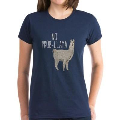 レディース 衣類 トップス CafePress - No Prob-Llama - Women's Dark T-Shirt グラフィックティー