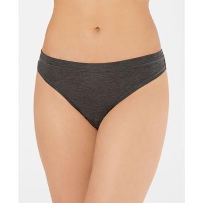 アルファニ Alfani レディース ショーツのみ インナー・下着 Ultra Soft Mix and Match Thong Underwear Charcoal Grey