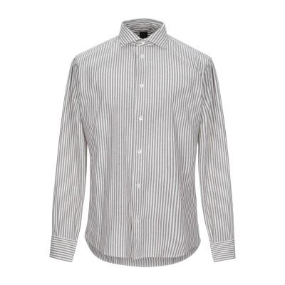 イレブンティ ELEVENTY シャツ グレー 43 コットン 89% / 麻 11% シャツ