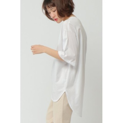 【エルビーシーウィズライフ/Lbc with Life】 シルケット天竺5分袖Tシャツ