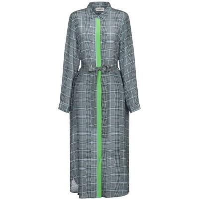 エッセンシャル・アントワープ ESSENTIEL ANTWERP 7分丈ワンピース・ドレス スカイブルー 34 シルク 100% 7分丈ワンピース・