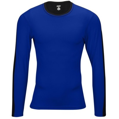 イーストベイ Eastbay メンズ 長袖Tシャツ トップス evapor premium l/s compression t-shirt Royal/Black