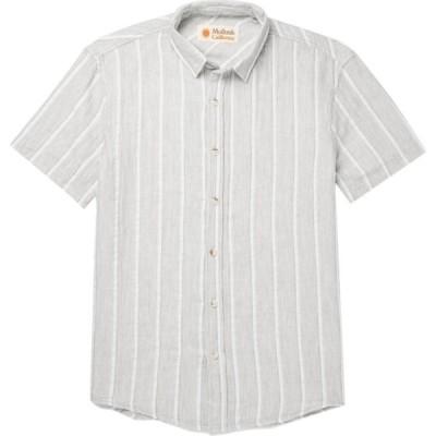 モルスク MOLLUSK メンズ シャツ トップス striped shirt Light grey