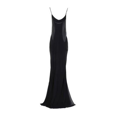 アン ドゥムルメステール ANN DEMEULEMEESTER ロングワンピース&ドレス ブラック 38 レーヨン 100% ロングワンピース&ドレス