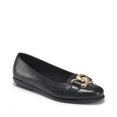 エアロソールズ レディース サンダル シューズ Women's Bristol Ballet Flats Black Leather