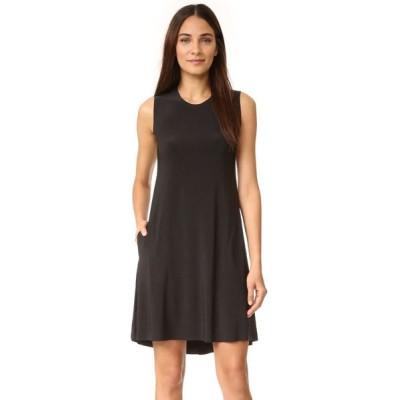 ノーマ カマリ Norma Kamali レディース ワンピース ノースリーブ ワンピース・ドレス Kamali Kulture Sleeveless Swing Dress Black