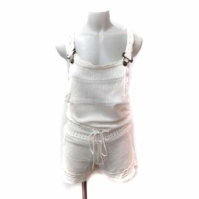 【中古】レディ Rady パンツ サロペット かぎ編み F 白 オフホワイト /YI レディース