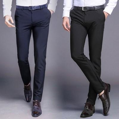 スラックス スリム メンズ ノータック ウォッシャブル 洗える パンツ ビジネス 紳士 メンズ 仕事着 パンツ ズボン オフィス 全店2点送料無料