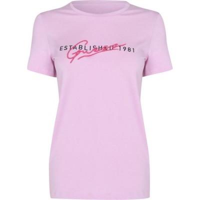 ゲス Guess レディース Tシャツ トップス Genziana T Shirt Glam Pink