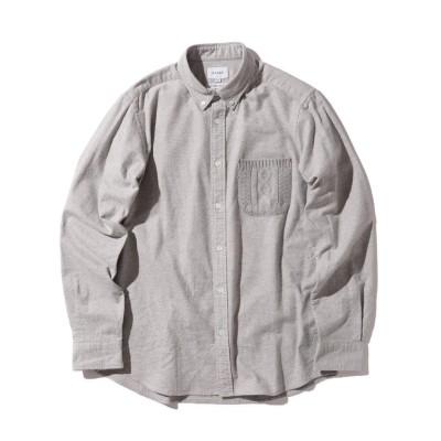 【ビームス メン】 BEAMS / ニット ポケット ミニ ボタンダウン シャツ メンズ LTGREY S BEAMS MEN