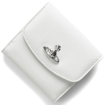 ヴィヴィアンウエストウッド 二つ折り財布 財布 メンズ レディース ヴィクトリア オーブ ホワイトベージュ 51150003 40565 C401 VIVIENNE WESTWOOD