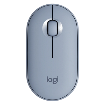 Logitech羅技 Pebble M350鵝卵石無線滑鼠 天空藍(910-005608)