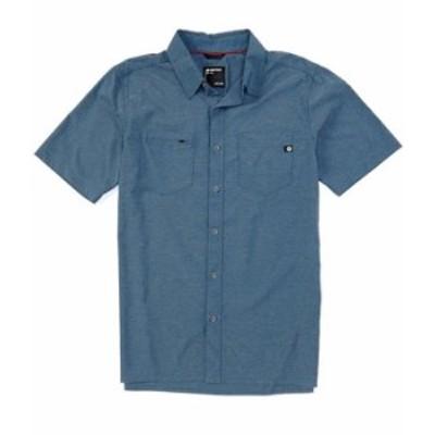 マーモット メンズ シャツ トップス Innesdale Solid Short-Sleeve Woven Shirt Denim