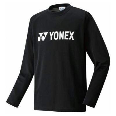 ヨネックス UNI ロングスリーブTシャツ ブラック YONEX 16158-007