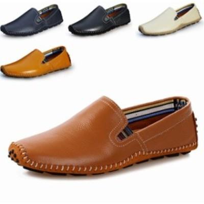 ローファー スリップオン メンズ ドライビングシューズ  モカシン 靴 ビジネスシューズ カジュアルシューズ 紳士靴 軽量