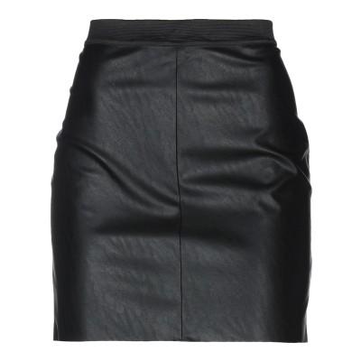 DESIGNERS, REMIX ミニスカート ブラック 36 ポリウレタン 55% / ポリエステル 45% ミニスカート
