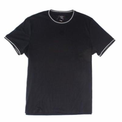 Alfani  ファッション トップス Alfani Mens T-Shirt Deep Black Size 2XL Ringer Crewneck Short-Sleeve Tee$40 356