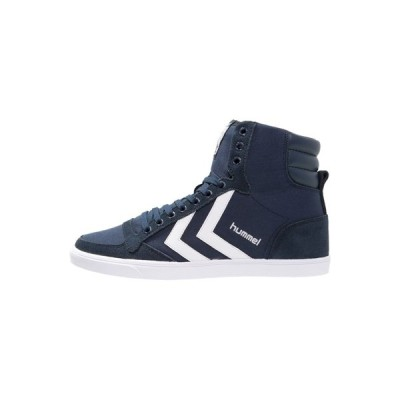 ヒュンメル スニーカー メンズ シューズ SLIMMER STADIL - High-top trainers - dress blue/white