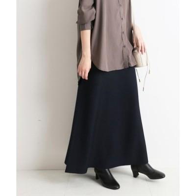 スカート ウォッシャブルスムースニットスカート【手洗い可能/ウエストゴム】◆