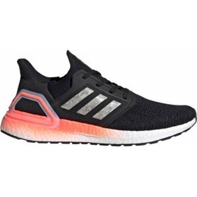 アディダス メンズ スニーカー シューズ adidas Men's Ultraboost 20 Running Shoes Black/White/Coral