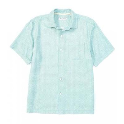 トミー バハマ Tommy Bahama メンズ 半袖シャツ トップス Traveling Geo Silk Short-Sleeve Woven Shirt Lawn Chair
