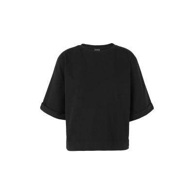 8 by YOOX T シャツ ブラック XS オーガニックコットン 100% T シャツ