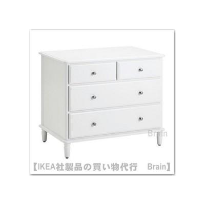 IKEA/イケア TYSSEDAL チェスト 引き出し×4 ホワイト