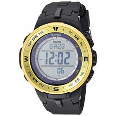 腕時計 カシオ メンズ Casio Men's ProTrek Stainless Steel Quartz Watch with Resin Strap, Black, 24 (Mo