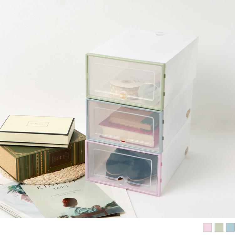 DIY組裝簡易型抽屜式鞋盒/雜物抽屜