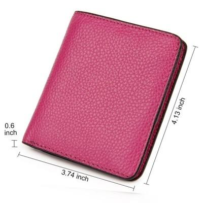 S-ZONE 本革 小銭入れ 財布 レディース 二つ折り ミニ財布 多機能財布 コイン カード入れ 大容量 ギフト