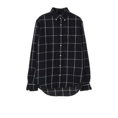 JOHN'S CLOTHING  / JOHN'SCLOTHING/ジョンズクロージング ボタンダウン インディゴ染チェックシャツ