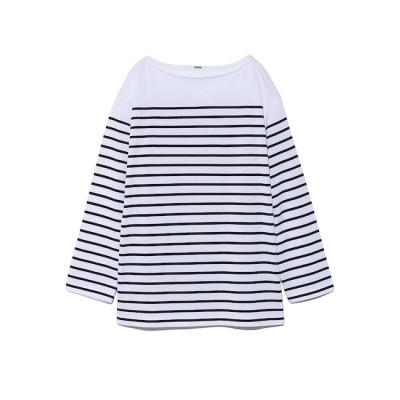 【ミラオーウェン/Mila Owen】 ビッグシルエットボーダ-Tシャツ