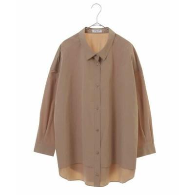 HIROKO BIS GRANDE/ヒロコビス グランデ 【洗濯機で洗える】オーバーサイズボタンダウンシャツ ベージュ 13