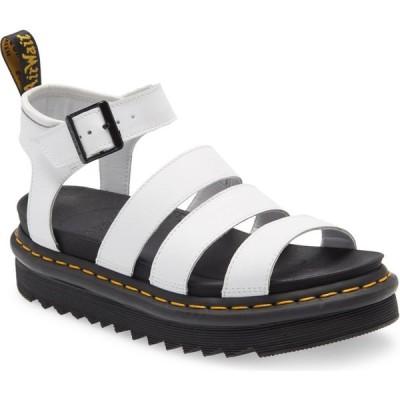 ドクターマーチン DR. MARTENS レディース サンダル・ミュール シューズ・靴 Blaire Sandal White Hydro Leather