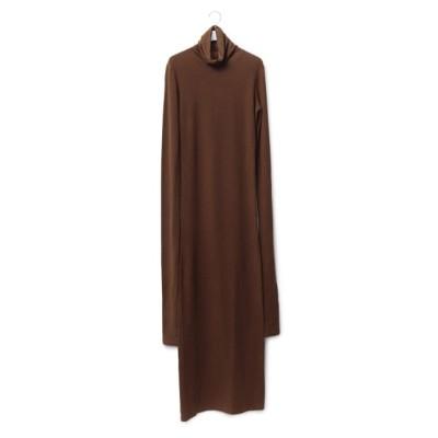 アダム エ ロペ ファム/WOMENS【LEMAIRE】LONG TURTLENEC DRESS/ダークブラウン/1
