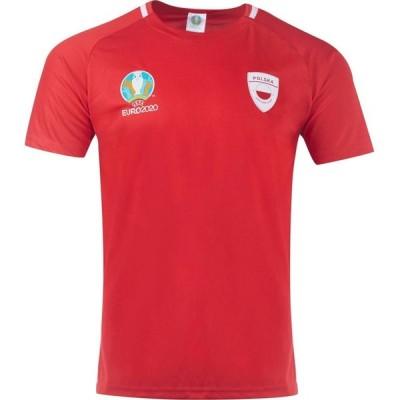 UEFA メンズ サッカー トップス Euro 2020 Poland Poly T Shirt Red