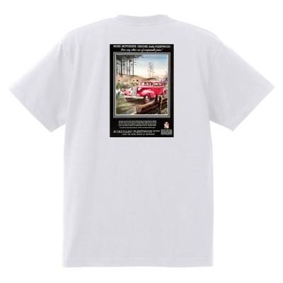 アドバタイジング キャデラックTシャツ 127 白 1937 オールディーズ ロックンロール 1950's1960's ロカビリー ローライダー
