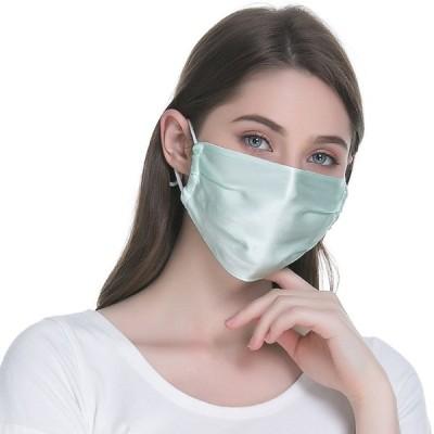 冷感マスク 夏用マスク マスク シルクマスク 二重構造 紐長さ調節可能 健康 花粉対策 風邪予防紫外線カット シンプル 大きめ 2枚セット