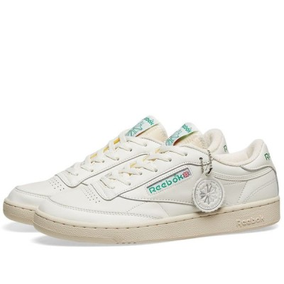 リーボック Reebok メンズ スニーカー シューズ・靴 Club C 1985 TV Chalk/Paper White/Green