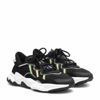 アディダス Adidas Originals レディース スニーカー シューズ・靴 Ozweego mesh sneakers CBlack/SGreen/Onix