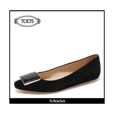 トッズ 靴 レディース TODS 靴 ブラック スウェード バレエシューズ